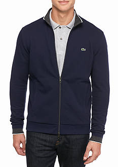 Lacoste Fancy Pique Full Zip Cotton Sweater