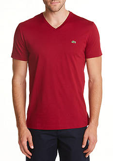 Lacoste Short Sleeve Pima Jersey V-Neck T-Shirt
