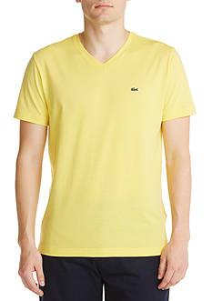 Lacoste Short Sleeve Pima Jersey V-Neck Tee