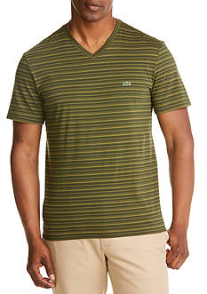 Lacoste Short Sleeve V-Neck Stripe T-Shirt