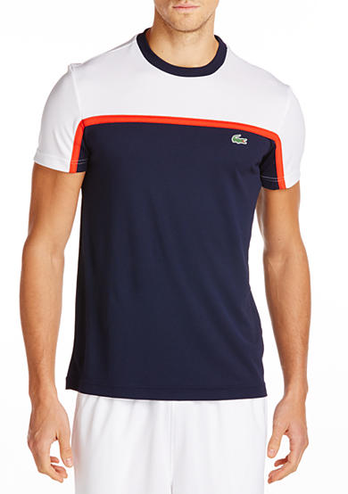 Lacoste Sport Short Sleeve Ultra-dry Color Block T-Shirt