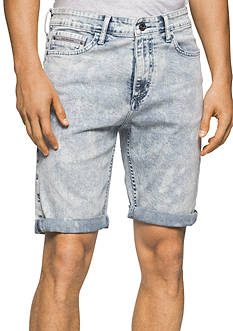 Calvin Klein Jeans Acid Wash 5-Pocket Shorts