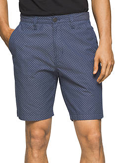 Calvin Klein Jeans Flat Front Mini Dot Chambray Shorts