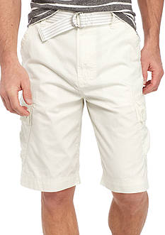 Calvin Klein Jeans Belted Ripstop Cargo Shorts
