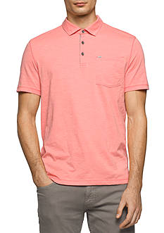 Calvin Klein Jeans Short Sleeve Slub Polo Shirt