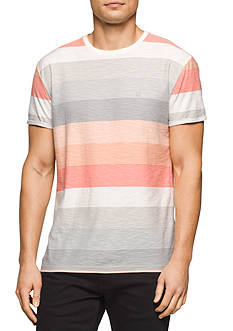 Calvin Klein Jeans Short Sleeve Multi Stripe Crew Neck Tee