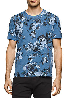Calvin Klein Jeans Short Sleeve Washed Flora Crew Neck Tee