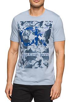 Calvin Klein Jeans Short Sleeve Camo Logo Crew Neck Tee
