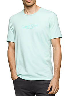 Calvin Klein Jeans Short Sleeve 'New York' Crew Neck Shirt