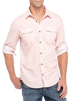 Calvin Klein Jeans Long Sleeve Tile Print Shirt
