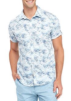 Calvin Klein Jeans Short Sleeve Cloud Print Woven Shirt