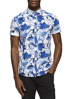 Calvin Klein Jeans Short Sleeve Floral Print Shirt