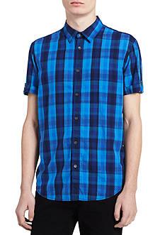 Calvin Klein Jeans Short Sleeve Buffalo Check Shirt