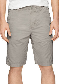 Calvin Klein Jeans Flat Front Washed Poplin Shorts