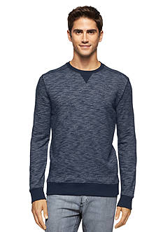 Calvin Klein Jeans Spacedye French Terry Long Sleeve Crew Neckline Shirt