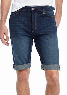 Calvin Klein Jeans Taper Denim Roll Cuff Shorts