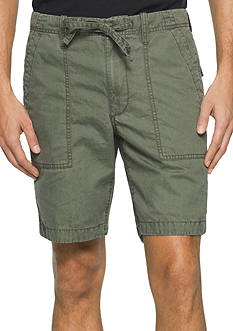 Calvin Klein Jeans Faded Color Poplin Utility Shorts
