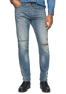 Calvin Klein Jeans Taper Destructed Jeans