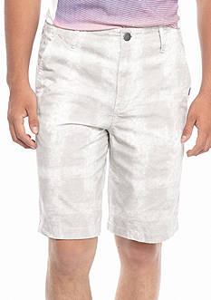 Calvin Klein Jeans Flat Front Ghost Grid Shorts