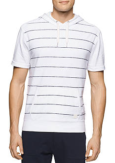 Calvin Klein Jeans Short Sleeve Terry Striped Hoodie