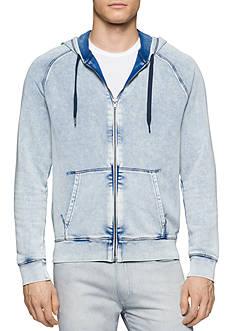 Calvin Klein Jeans Acid Wash Full Zip Hooded Sweatshirt