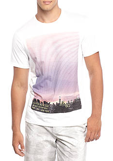 Calvin Klein Jeans Short Sleeve Gradient Horizon Sublimation Graphic Tee
