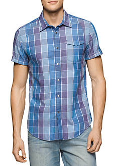 Calvin Klein Jeans Short Sleeve Boxed Summer Twill Shirt