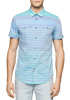 Calvin Klein Jeans End On End Horizontal Stripe Shirt
