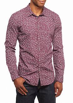 Calvin Klein Jeans Micro Floral Long Sleeve Button Down Shirt