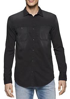 Calvin Klein Jeans Long Sleeve Asphalt Denim Shirt