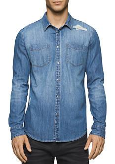 Calvin Klein Jeans Essential Blue Denim Shirt