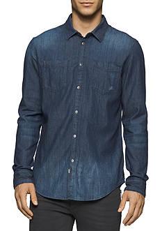 Calvin Klein Jeans Long Sleeve Dark Indigo Shirt