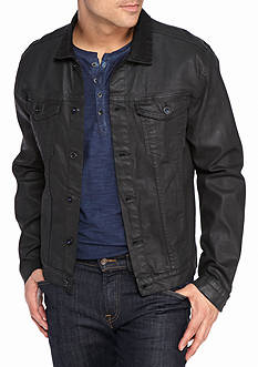 Calvin Klein Jeans Denim Coated Trucker Jacket