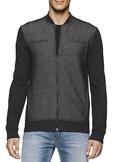 Calvin Klein Jeans Full Zip Bonded Moto Knit Jacket