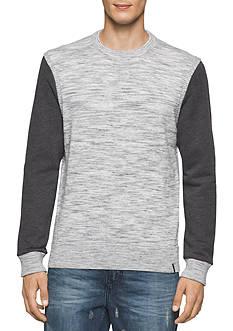 Calvin Klein Jeans Space Dye Heather Crew Neck Sweatshirt