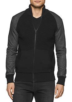 Calvin Klein Jeans Ottoman Tube Terry Full Zip Sweatshirt