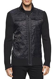 Calvin Klein Jeans Full Zip Cargo Sweater