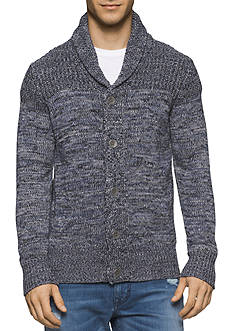 Calvin Klein Jeans Marled Shawl Collar Cardigan