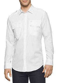 Calvin Klein Jeans Modern Long-Sleeve Military Shirt