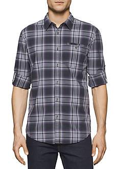 Calvin Klein Jeans Long Sleeve Vintage Violet Check Shirt