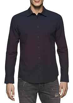 Calvin Klein Jeans Long Sleeve Ombre Shirt