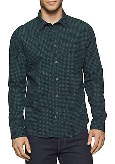 Calvin Klein Jeans Long Sleeve English Pine Print Button Down Shirt