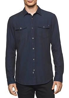 Calvin Klein Jeans Long Sleeve Denim Button Down Shirt
