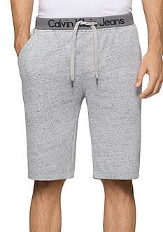 Calvin Klein Jeans Logo Waistband Suede Fleece Shorts