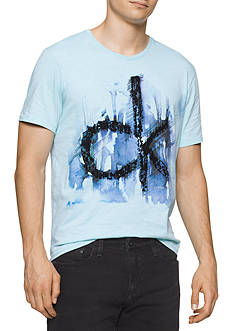 Calvin Klein Jeans Short Sleeve Ink And Pant Graphic Tee