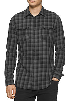 Calvin Klein Jeans Long Sleeve Brushed Block Check Shirt