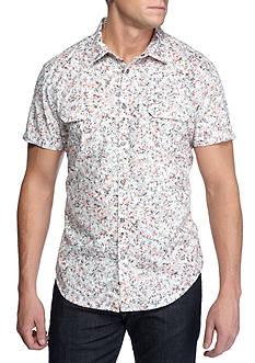 Calvin Klein Jeans Short Sleeve Kalaidascope Print Shirt