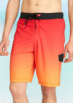Speedo® 11-in. Engineered Ombre Cargo Board Shorts