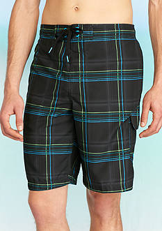 Speedo® 11-in. Airbrush Stripe Cargo Board Shorts