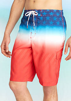 Speedo® 10-in. Flag Fade Cargo Board Shorts